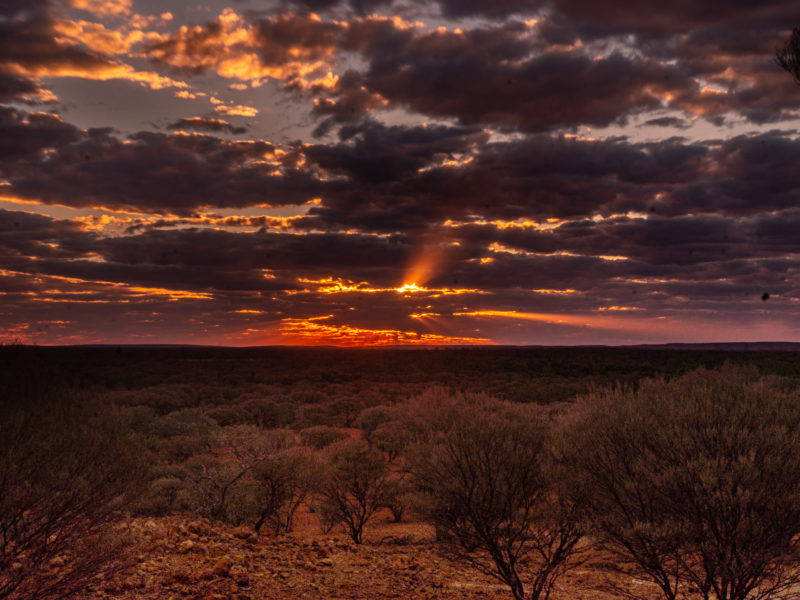 Sunset at Red Hill Lookout - Wiluna