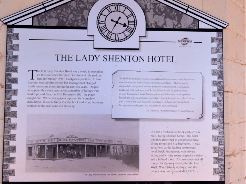 Menzies Visitors Centre - Lady Shenton Hotel