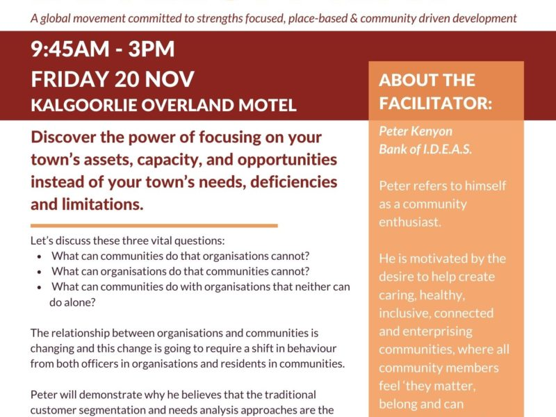 ABCD (Asset Based Community Development) Workshop with Peter Kenyon