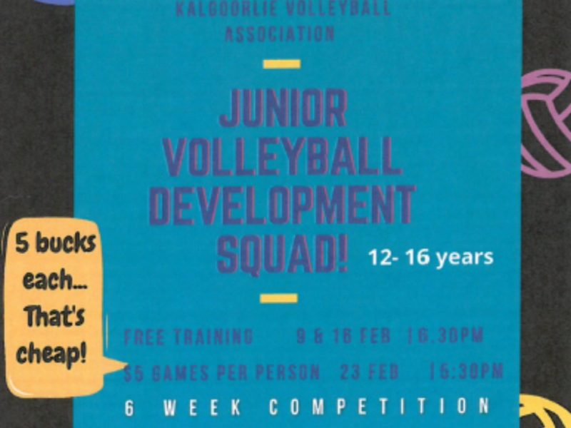 Junior Volleyball Development Squad Kalgoorlie