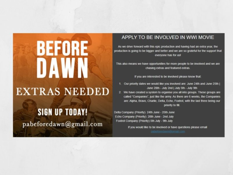 Before Dawn - Extras Needed - Esperance