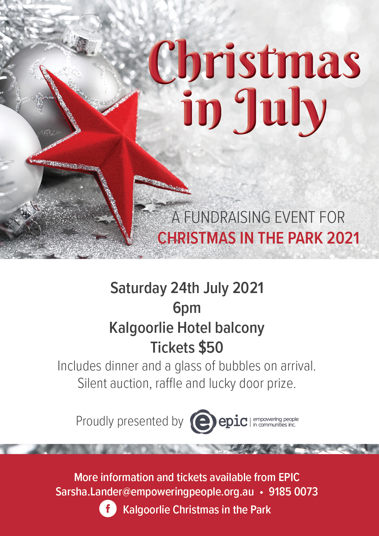. Christmas In July 2021 Christmas In July Fundraiser Our Gems Wa